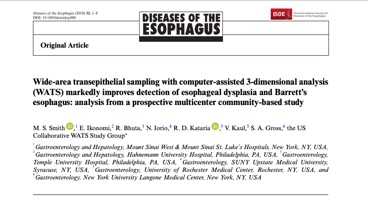 Wide-area transepithelial sampling with computer-assisted 3-dimensional analysis (WATS) markedly improves detection of esophageal dysplasia and Barrett's esophagus: analysis from a prospective multicenter community-based study