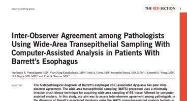 Inter-Observer Agreement among Pathologists Using Wide-Area Transepithelial Sampling With Computer-Assisted Analysis in Patients With Barrett's Esophagus